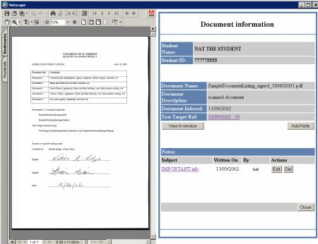 Document-management system for student records